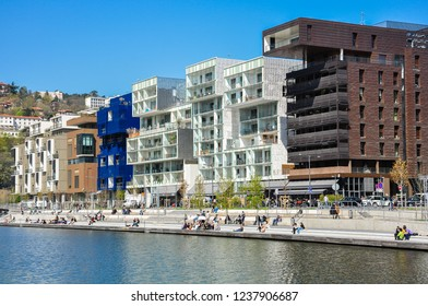 Modern Architecture, The Confluence District in Lyon, France