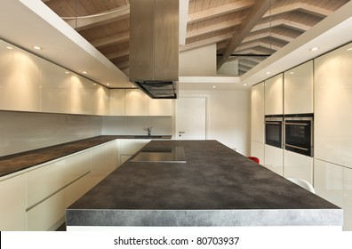 modern architecture contemporary, interior, kitchen view