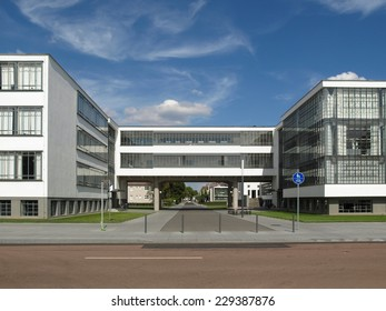 Modern architecture in Dessau, Germany (south of Berlin)