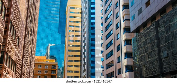 Modern architecture of downtown Abu Dhabi, United Arab Emirates