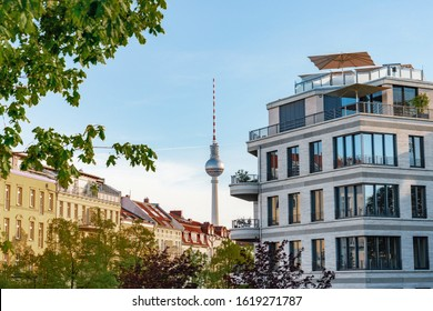 modern architecture in front of Berlin TV-Tower