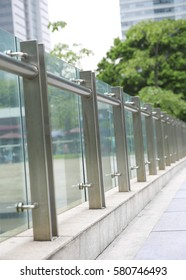Modern architecture glass railing