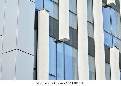 Modern architecture, glass and steel. Abstract architectural design.