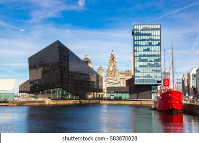Modern architecture in Liverpool, England, United Kingdom