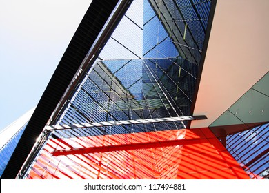Modern architecture in London close up