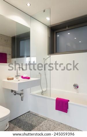 Modern Architecture Nice Apartment Bathroom Stock Photo Edit Now - Nice-apartment-bathrooms
