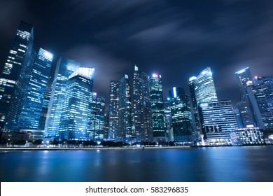Modern architecture, office building cityscape background.