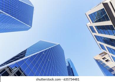 Modern architecture of Regina. Regina, Saskatchewan, Canada.
