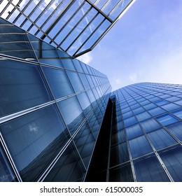 modern architecture. skyscrapers. office buildings. Glass silhouettes of skyscrapers