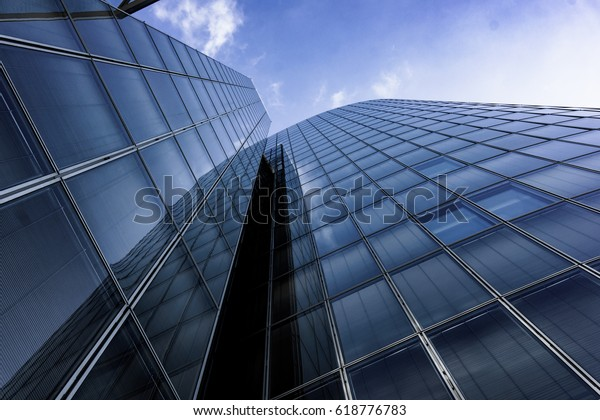 Modern Architecture Skyscrapers Office Buildings Glass Stock Photo ...