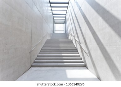 modern architecture stairs made of concrete