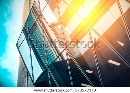modern architecture sun ray right corner stock photo edit now