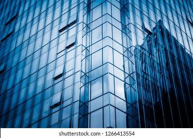 Modern architecture tone close Up in blue tone