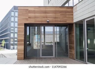 Modern architecture. Wooden facade