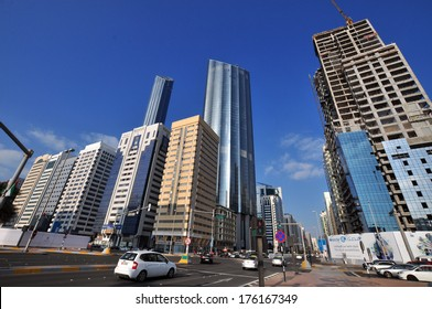 Modern architecture (World Trade Buildings) in Abu Dhabi in United Arab Emirates.