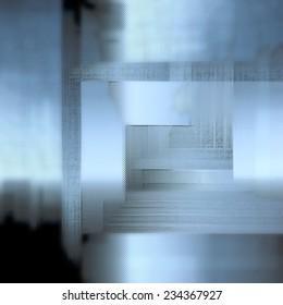 Modern art, The door, Interior abstract background.