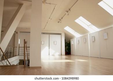 Loft Interior Design White Grey Concept Stock Photo (Edit