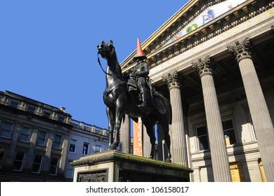 Modern art museum Glasgow, Scotland, UK