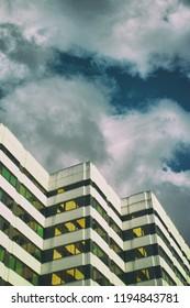 Modern Art Skycraper Hamburg sky minimalism golden vintage