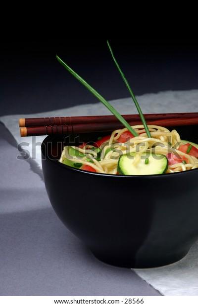 Modern Asian Noodle dish.