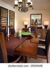 Modern Asian style Dining Room
