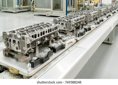Modern automotive industry production lines, neatly arranged cylinder.