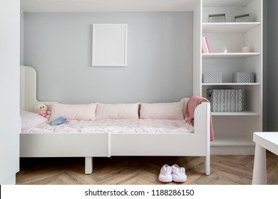 Modern baby room in pin color