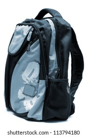 Modern backpack on a white background