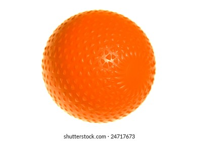 A modern bandy ball on a white isolated background