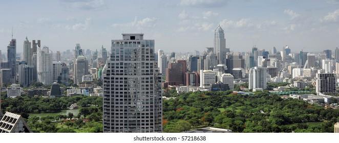modern bangkok city panorama