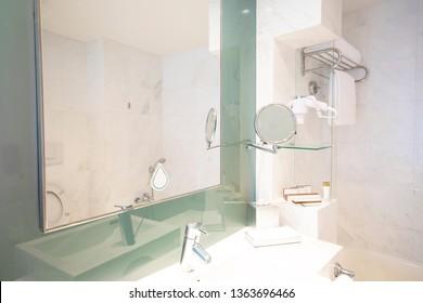 Modern bath room in the luxury condominium at mirrow beauty view.