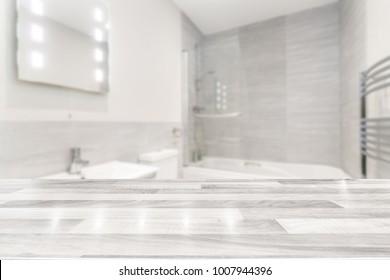 Modern bathroom with a countertop