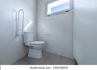 Modern bathroom for disabled people.