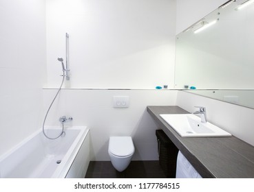 modern bathroom interior in black/white colours