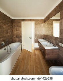 Modern bathroom, new and clean