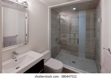 Modern bathroom in new luxury house