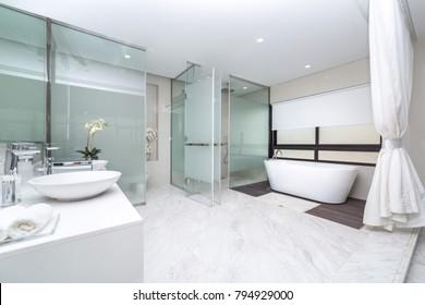 Modern bathroom view