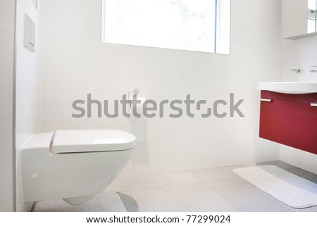 Modern bathroom wall hung toilet sink stock photo edit now