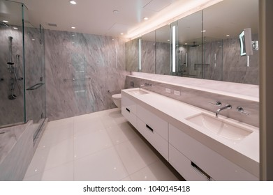 Modern bathroom, washroom.  Interior design.