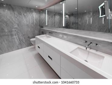 Modern bathroom, washroom.  Interior design.