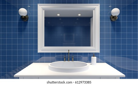 modern bathroom.3D rendering