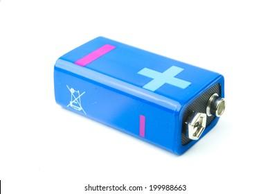 modern battery aa, aaa alkaline cadmium chemical  on white background