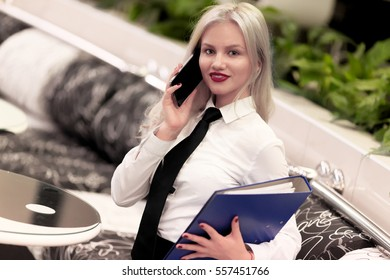 Modern beautiful business woman in the office.
