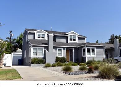 Modern beautiful villas and estates in the Los Angeles, California.