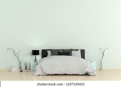modern bed room with sofa and furniture. Feeling relax time. Minimal style concept.