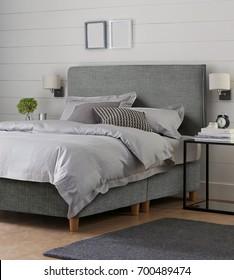 Modern bedroom. Beautiful bedroom interior