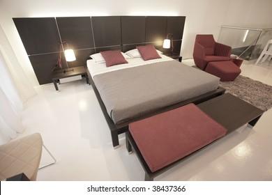 Modern bedroom decoration  Furniture provided by www.lignerosetmiami.com