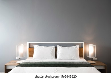 Modern bedroom design, Double bed.