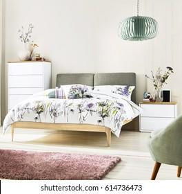 Modern bedroom. Luxury bedroom interior