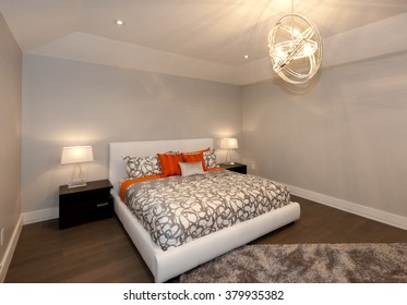 Modern bedroom in new luxury house